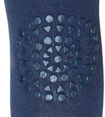 Kravle Leggings, Petrol blå - GoBabyGo - Dansk design - Super smarte leggings med skridsikre dutter.