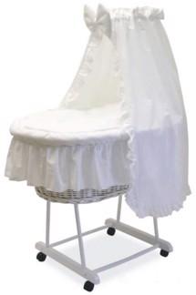 Lagen af stræk, til barnevogn og babylift - økotex certificeret hvide babylagner fra Babyshower