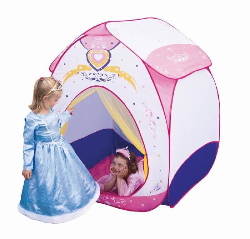 Højmoderne Legetelt, lyserød - Ludi - Stort prinsesse telt til legeværelset IZ-22