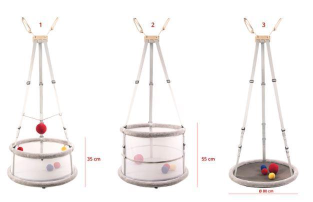 3 i 1 vugge - Memola - Kan anvendes fra 0-12 år. Vugge og gynge.