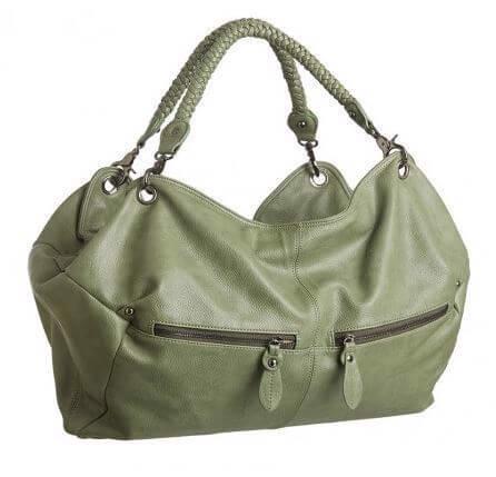 c3fd3c963f2 Pusletaske BA-BEA, olive New - Smuk taske fra byStroom - dejlig blød ...