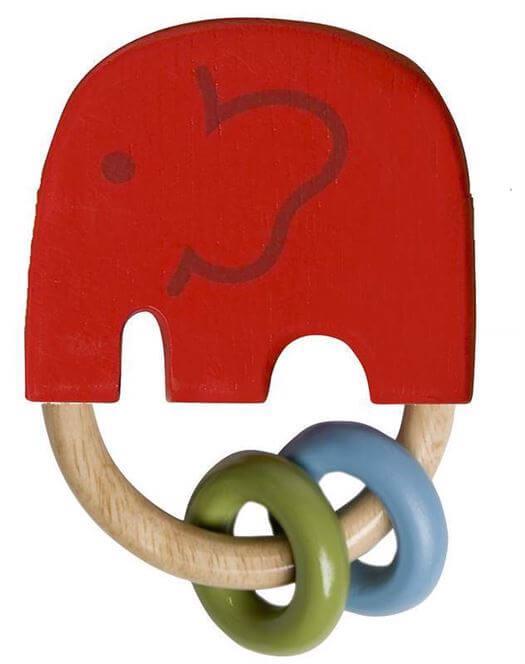 Elefant-rangle i træ, Rød - Franck & Fischer