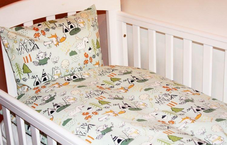 Oprindeligt Junior sengetøj, grøn - Lækkert bomulds sengetøj hos Babyshower GZ76