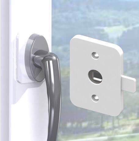 Splinterny Sikkerhedslås til vindue eller altandør - Reer. Skab sikkerhed i HI45
